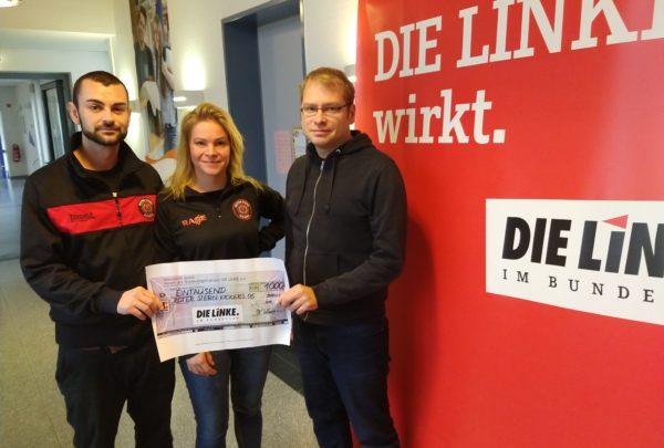 Scheckübergabe an Roter Stern Kickers Ahrensburg