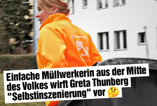 """Einfache Müllwerkerin wirft Greta """"Selbstinszenierung"""" vor"""