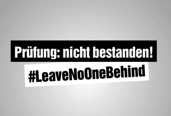#LeaveNoOneBehind