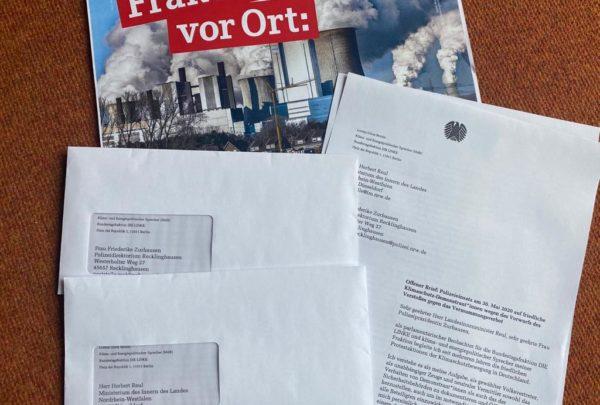 Klimaproteste gegen Datteln 4: Offener Brief an NRW-Innenminister Reul und Polizeipräsidentin zum eskalierenden Polizeieinsatz