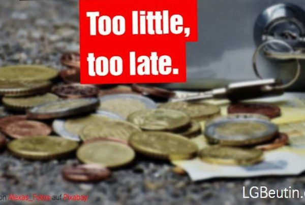 Too little, too late.