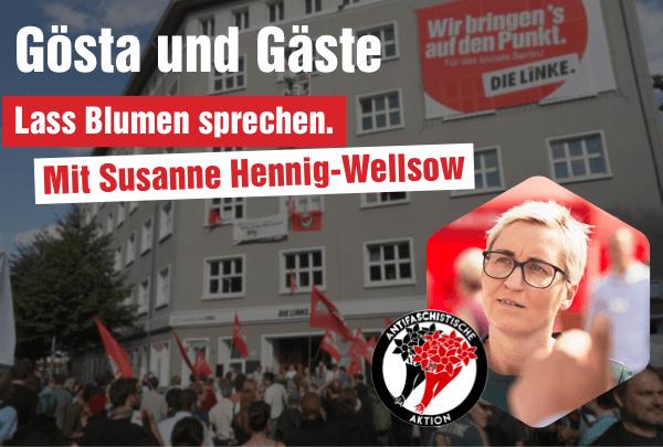 20.01 um 20 Uhr: Live Veranstaltung mit Susanne Hennig-Wellsow
