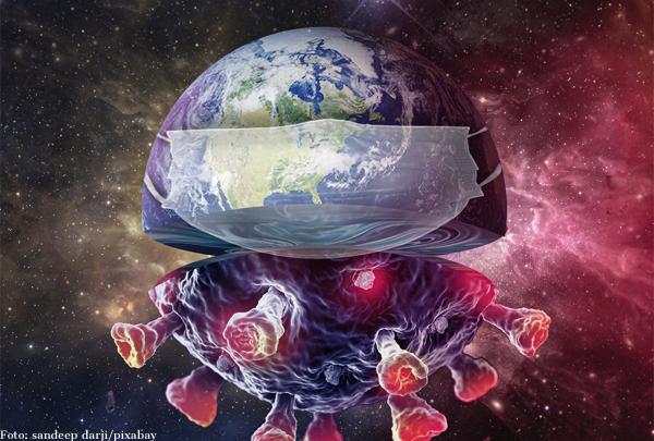 Eine Pandemie, zwei Welten.