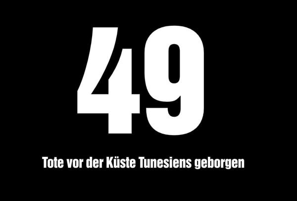 49 Tote vor der Küste Tunesiens geborgen